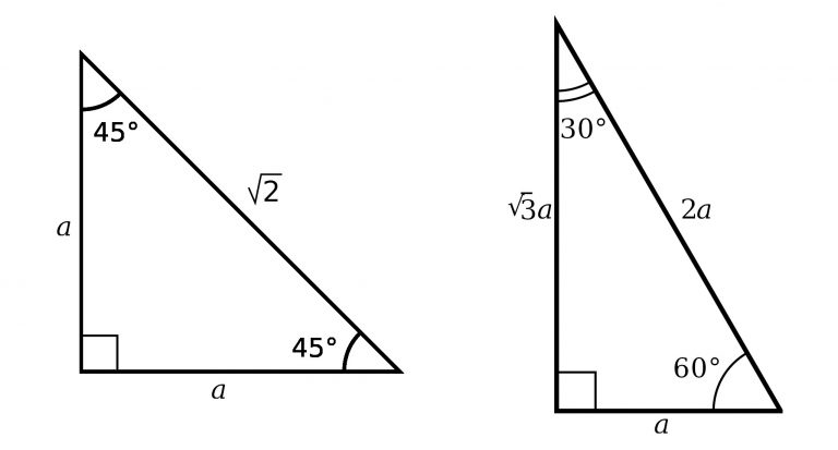 angle-based special right triangles
