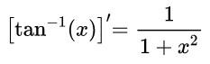 arctanx derivative