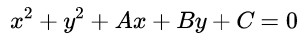 equation of circle general form