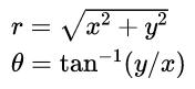 rectangular to polar calculation