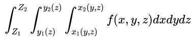 triple integral notation